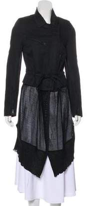 Ann Demeulemeester Long Linen-Blend Coat