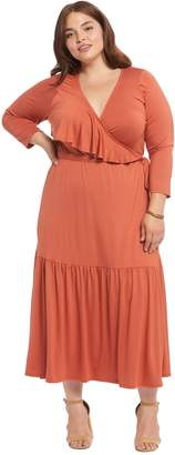 Theory White Label Nadine Wrap Dress - Paprika, Plus Size
