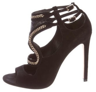 B Brian Atwood Chain-Link Cutout Pumps $150 thestylecure.com