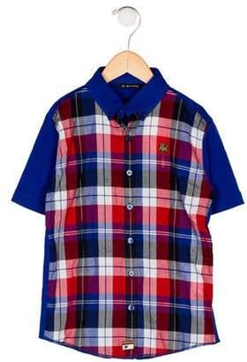 La Miniatura Boys' Plaid Button-Up Shirt