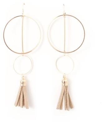La Redoute Collections Hoop and Tassel Earrings