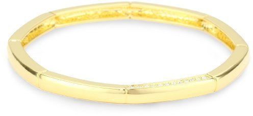 T Tahari Rose Gold and Crystal Bangle Bracelet