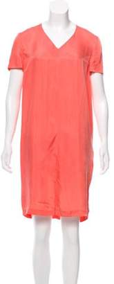 Cacharel Satin Mini Dress Coral Satin Mini Dress
