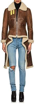 Givenchy Women's Shearling Asymmetric Jacket