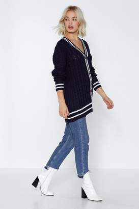Nasty Gal Got Knit Going On Striped Cardigan