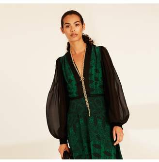 Amanda Wakeley Emerald Printed Paisley Midi Dress