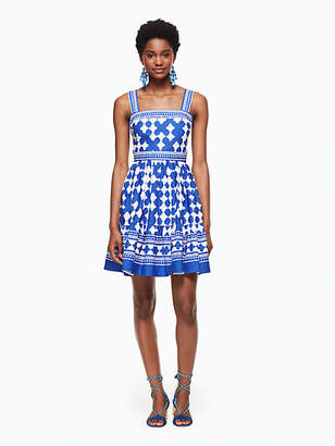 Lantern poplin flounce dress $398 thestylecure.com
