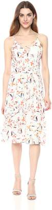 Adelyn Rae Women's Tiffany Woven Printed Midi Dress