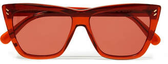 Stella McCartney Cat-eye Acetate Sunglasses - Orange