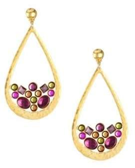 Gas Bijoux Byzance 24K Goldplated& Beaded Teardrop Earrings
