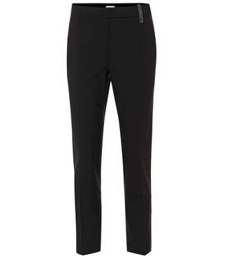 Brunello Cucinelli Stretch wool-blend cropped pants