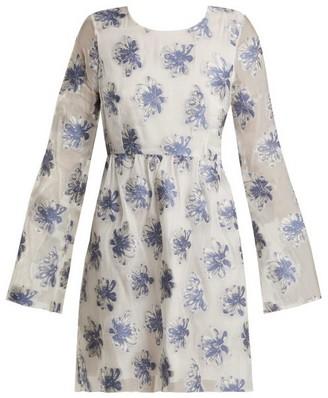 Athena Procopiou - In The Hills Floral Fil Coupe Organza Dress - Womens - White Multi