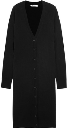 T by Alexander Wang - Wool And Cashmere-blend Cardigan - Black $425 thestylecure.com