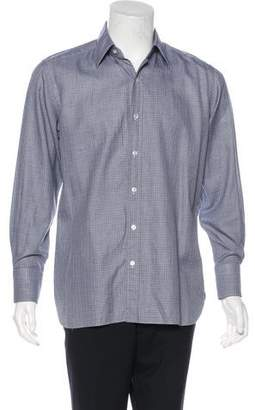 Tom Ford Check Woven Dress Shirt