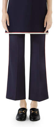 Gucci Boot-Cut Cady-Stretch Cropped Pants