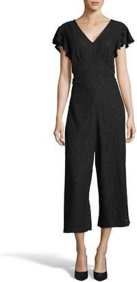 ECI Crop Lace Jumpsuit