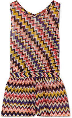 Missoni Mare Crochet-knit Playsuit - Red