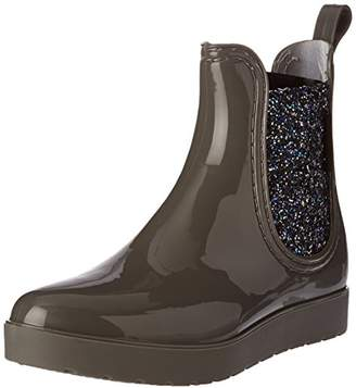 BeOnly Be Only Women's Caroline Silver Wellington Boots, Grey Gris