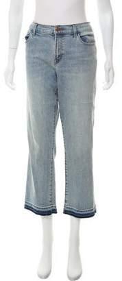 J Brand High-Rise Straight-Leg Cropped Jeans