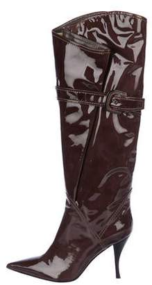Sergio Rossi Patent Leather Over-The-Knee Boots
