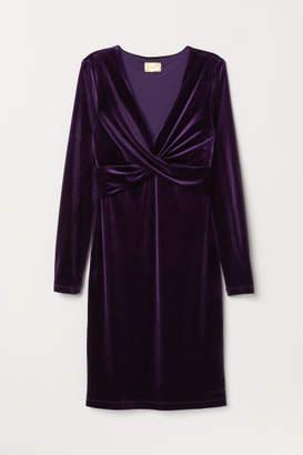 H&M Draped Dress - Purple