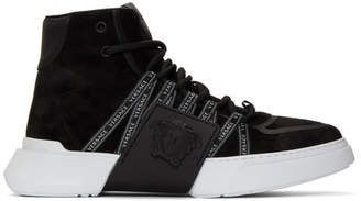 Versace Black Logo Ribbon Sneakers