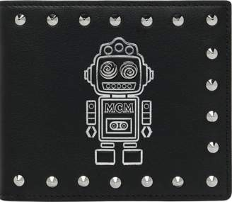 MCM Roboter Bifold Wallet In Nappa Leather