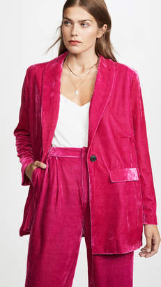 Endless Rose Velvet Single Breasted Blazer