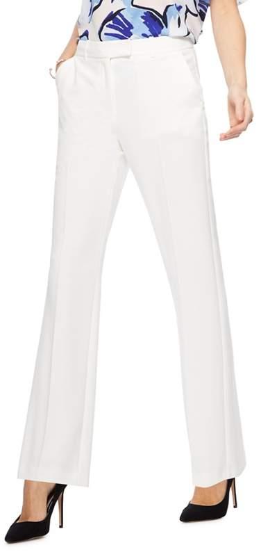 Petite – Ivory Straight Leg Petite Suit Trousers