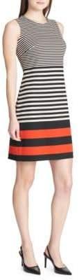 Calvin Klein Striped Ponte Sheath Dress