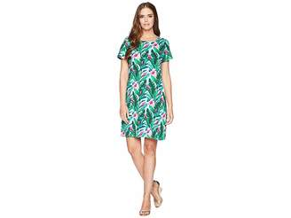 Tommy Bahama Tulum Blooms Short Sleeve T-Shirt Dress