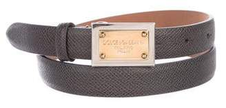 Dolce & Gabbana Skinny Leather Belt