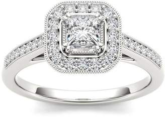 Imperial Diamond Imperial 1/2 Carat T.W. Diamond Single Halo 14kt White Gold Engagement Ring