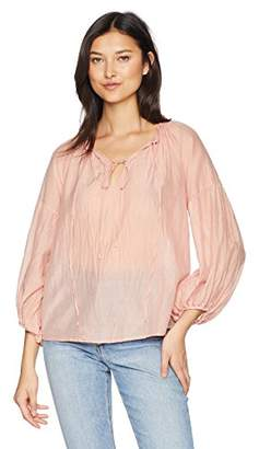 Velvet by Graham & Spencer Women's Tammin Silk Cotton Voile Blouse