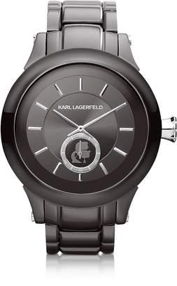 Karl Lagerfeld Chain 44.6 mm Gunmetal IP Stainless Steel Unisex Watch
