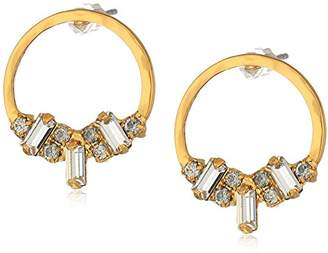 Sorrelli Lisa Oswald Collection Crystal Adorned Front Facing Hoop Earrings