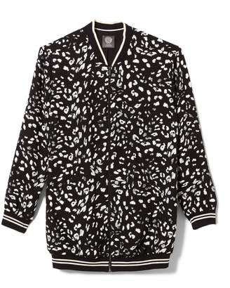 Vince Camuto Animal-print Bomber Jacket
