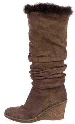 Aquatalia Shearling Knee-High Boots