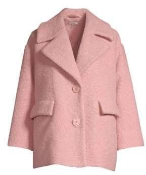 Ganni Boucle Wool Boxy Coat
