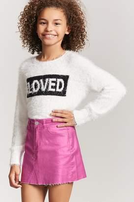 Forever 21 Girls Metallic Mini Skirt (Kids)