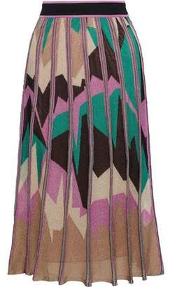 M Missoni Metallic Intarsia-Knit Midi Skirt