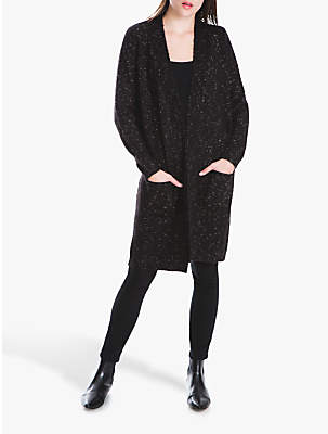 Long Knit Cardigan, Black