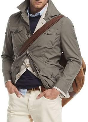 Brunello Cucinelli Safari Jacket with Roll-Tab Sleeves