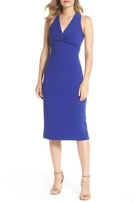Maggy London Knot Front Midi Dress (Regular & Petite)