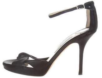 Jimmy Choo Satin Ankle Strap Sandals