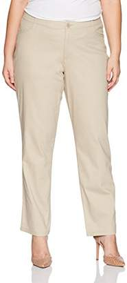 Lee Indigo Women's Plus Size Comfort Collection Twill L Pocket Pant