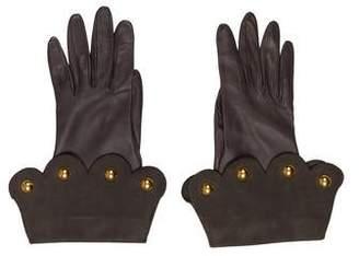 Hermes Lambskin Embellished Gloves