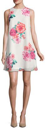 Jessica Howard Sleeveless Floral A-Line Dress-Petite