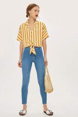 Topshop Petite Mid Blue Joni Jeans