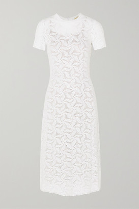 MICHAEL Michael Kors Crocheted Cotton Dress - White